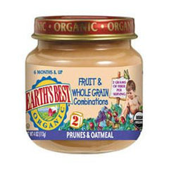 EARTH'S BEST ORGANIC PRUNE & OATMEAL - BABY FOOD