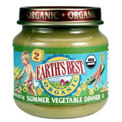 EARTH'S BEST ORGANIC SUMMER VEGETABLE DINNER - BABY FOOD