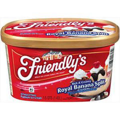 FRIENDLY'S BANANA SPLIT ICE CREAM