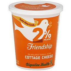 FRIENDSHIP NO SALT ADDED 1& MILFAT LOW FAT COTTAGE CHEESE SMALL CURD