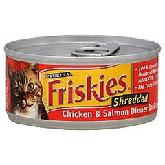 FRISKIES SHREDDED CHICKEN & SALMON DINNER IN SAUCE