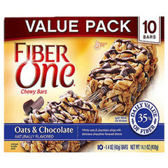 GENERAL MILLS FIBER ONE CHEWY OAT & CHOCOLATE BARS