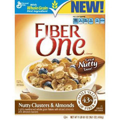 GENERAL MILLS FIBER ONE CLUSTER & ALMOND CEREAL