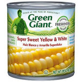 GREEN GIANT SUPER SWEET YELLOW AND WHITE CORN