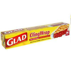 GLAD CLING WRAP CLEAR PLASTIC WRAP  200 SQ