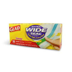 GLAD STORAGE EXTRA WIDE SEAL -  QUART SIZE