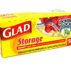 GLAD STORAGE EXTRA WIDE SEAL  ZIPPER BAG - 1 GALLON SIZE