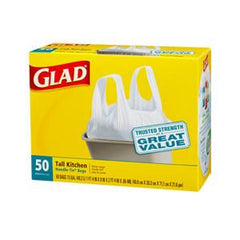 GLAD TALL KITCHEN HANDLE TIE BAGS - 13 GALLONS