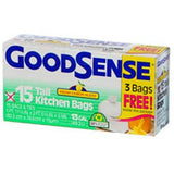GOODSENSE BLUE RECYCLING LARGE TRASH BAGS - 30 GALLONS