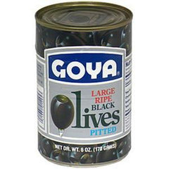 GOYA LARGE RIPE BLACK OLIVES PITTED
