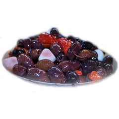 PITTED KALAMATA OLIVES WITH GARLIC AND PEPPERS - KOSHER