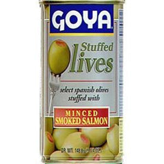 GOYA STUFFED OLIVES WITH MINCED SMOKED SALMON
