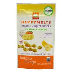 HAPPY MELTS ORGANIC YOGURT SNACKS BANANA MANGO FOR BABIES & TODDLERS