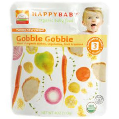 HAPPYBABY #3 ORGANIC GOBBLE GOBBLE BABY FOOD
