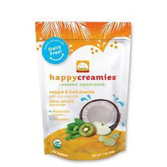 HAPPYCREAMIES VEGGIE & FRUIT SNACKS APPLE  SPINACH  PEA & KIWI