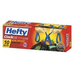 HEFTY CINCH LARGE TRASH BAGS EXTRA STRONG -30 GALLONS