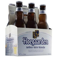 HOEGAARDEN IMPORTED BEER - 6 PACK - 12 FL OZ EACH BOTTLE