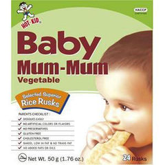 HOT-KID BABY MUM-MUM VEGETABLE RICE RUSKS