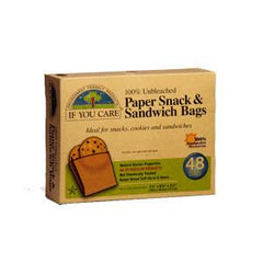IF YOU CARE PAPER SNACK & SANDWICH BAGS 100% RENEWABLE RESOURCES