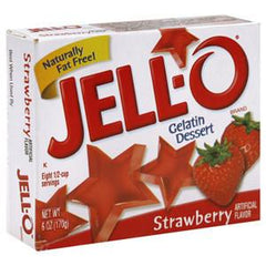 JELLO STRAWBERRY GELATIN DESSERT