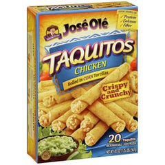 JOSE OLE BEEF TAQUITOS ROLLED IN FLOUR TORTILLAS
