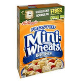 KELLOGG'S FROSTED MINI WHEAT BITE SIZE CEREAL