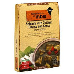 KITCHEN OF INDIA SPINACH WITH COTTAGE CHEESE AND SAUCE PALAK PANEER