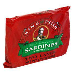 KING OSCAR FINEST NORWEGIAN BRISLING SARDINES IN OLIVE OIL