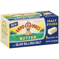 LAND O LAKES BUTTER OLIVE OIL & SEA SALT HALF STICKS