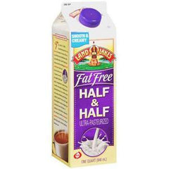 LAND O LAKES FAT FREE HALF & HALF CREAM