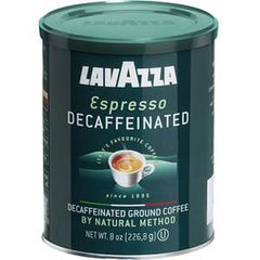 LAVAZZA ESPRESSO DECAFFEINATED GROUND COFFEE