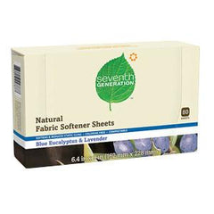 SEVENTH GENERATION NATURAL FABRIC SOFTENER SHEETS BLUE EUCALYPTUS LAVENDER