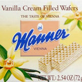 MANNER VANILLA CREAM FILLED WAFERS