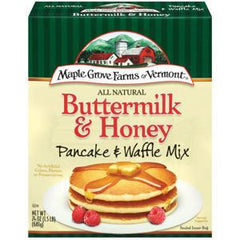MAPLE GROVE FARMS ALL NATURAL BUTTERMILK & HONEY PANCAKE AND WAFFLE MIX