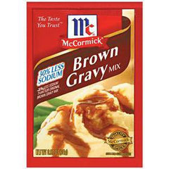MCCORMICK BROWN GRAVY MIX LESS SODIUM