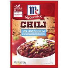 MCCORMICK CHILI LESS SODIUM SEASONING