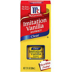 MCCORMICK CLEAR IMITATION VANILLA EXTRACT