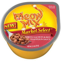MEOW MIX MARKET SELECT WITH SALMON & RED SNAPPER IN SAUCE