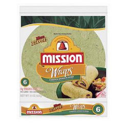 MISSION FLOUR WRAP GREEN SPINACH