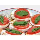 MOZZARELLA WITH BASIL AND FRESH TOMATO CHEESE