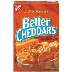 NABISCO BETTER CHEDDAR - SNACK CRACKERS