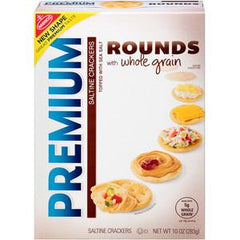 NABISCO PREMIUM ROUNDS WITH WHOLE GRAIN-  CRACKERS