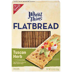 NABISCO WHEAT THINS TUSCAN HERB- FLATBREAD