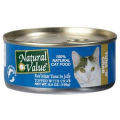 NATURAL VALUE RED MEAT TUNA IN JELLY TOPPED WITH CRAB - NATURAL CAT FOOD