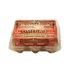 NATURE'S YOKE OMEGA 3 LARGE BROWN EGGS