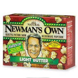 NEWMAN'S OWN LIGHT BUTTER MICROWAVE POPCORN