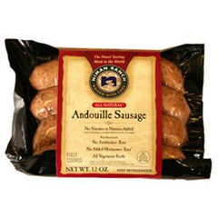 NIMAN RANCH ALL NATURAL ANDOUILLE SAUSAGE FULLY COOKED - GLUTEN FREE