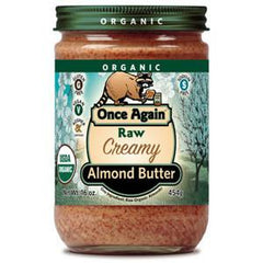 ONCE AGAIN ORGANIC RAW CREAMY ALMOND BUTTER