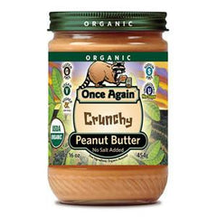 ONCE AGAIN ORGANIC CRUNCHY PEANUT BUTTER NO SUGAR ADDED