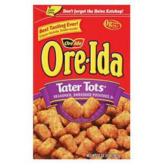 ORE IDA TATER TOTS SEASONED  SHREDDED POTATOES